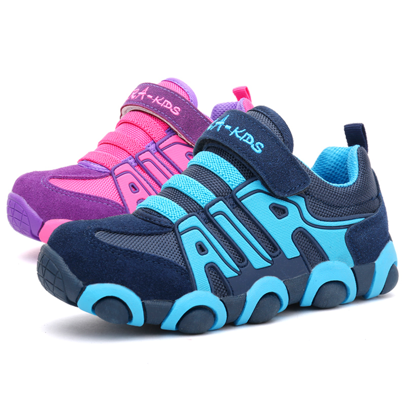 2016 Autumn Brand Leather Kids Shoes Boys And Girls Sports Shoes Children Patchwork Sneakers Casual Boys