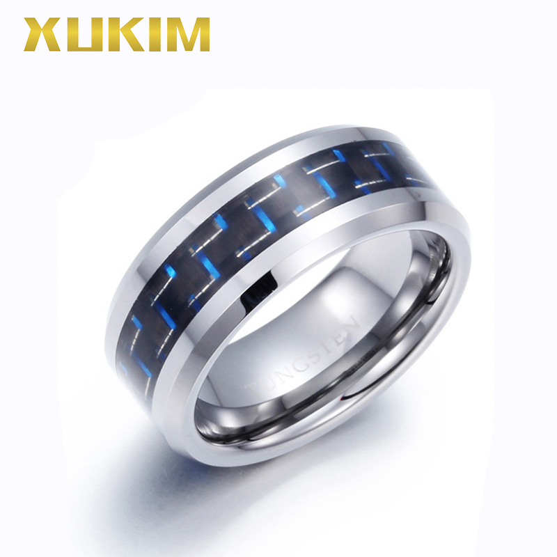 TSR220 Xukim Jewelry stainless steel ring sliver band man ring women ring carbon fiber ring gift