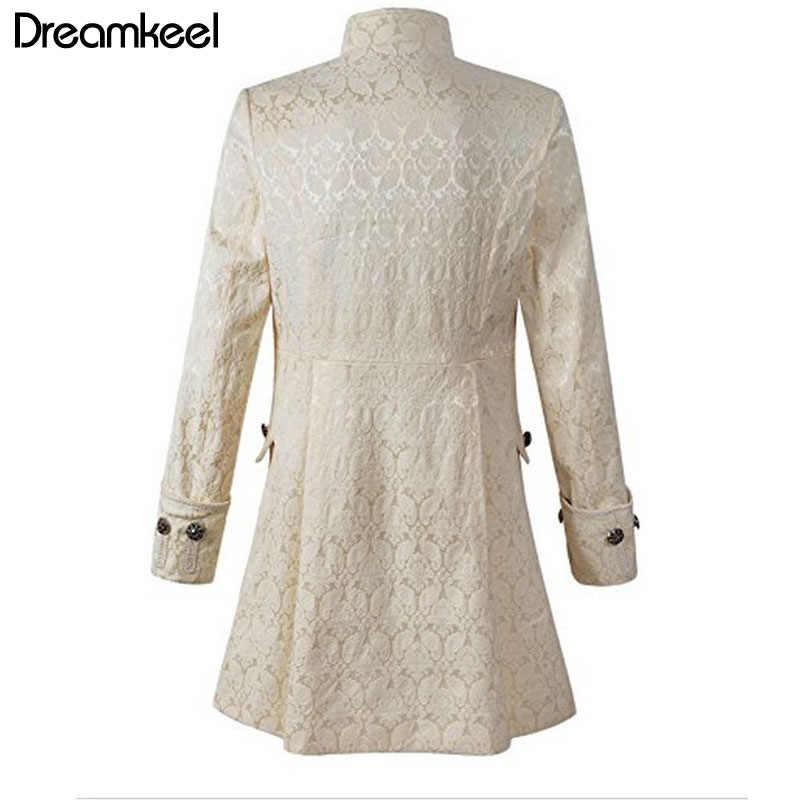 Взрослых для мужчин Тренч Платье бархатная Верхняя одежда 2 цвета одноцветное Винтаж принц пальто костюм S-XXXL длинное ветро