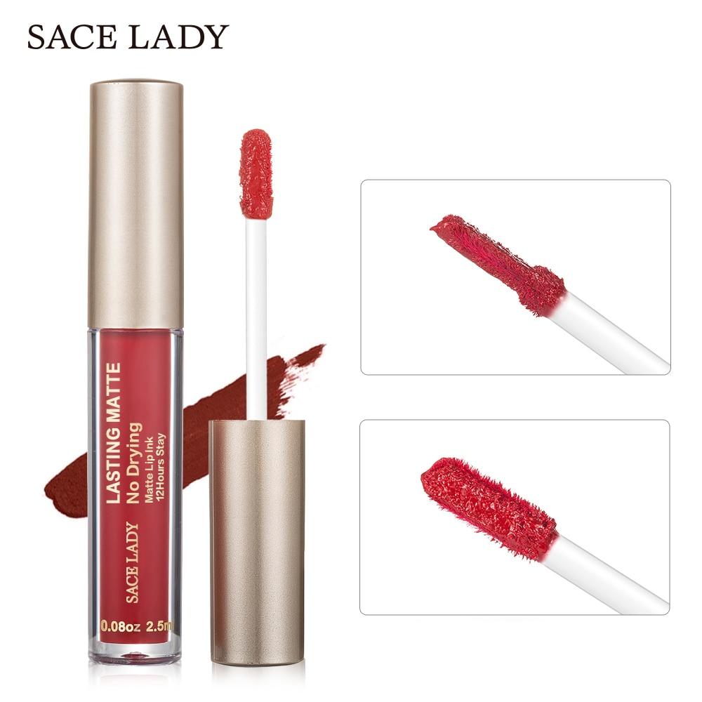 SACE LADY Matte Lipstick Makeup 23 Color Liquid Lipstick Red Nude Lip Tint Moisturizing Make Up Waterproof Long Lasting Cosmetic 1