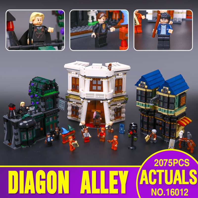 Lepin 16012 Genuine Limited Edition Series The Diagon Alley Set legoINGly 10217 Educational Building Blocks Bricks Toys as Gift lepin 42010 590pcs creative series brick box legoingly sets building nano blocks diy bricks educational toys for kids gift