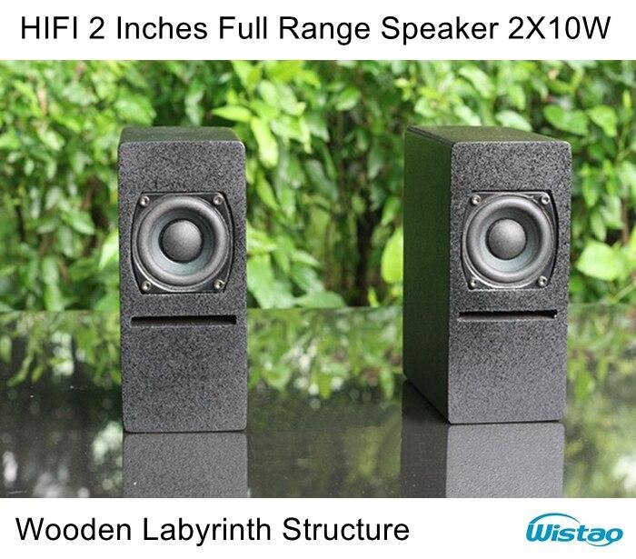 IWISTAO HIFI 2 pouces gamme complète haut-parleur armoire en bois 2X10 W 84dB néodyme haut-parleur unité labyrinthe Structure pour amplificateur de Tube