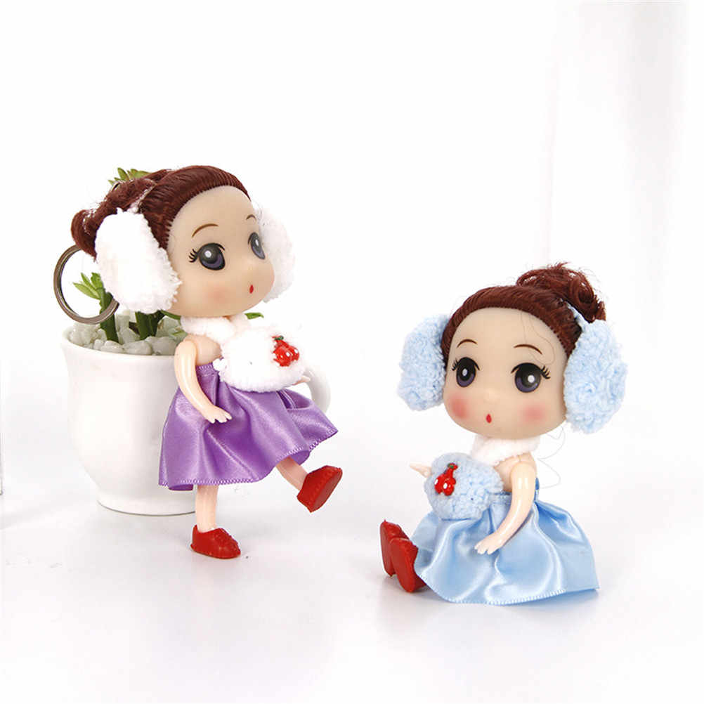12cm Mini Linda oreja teléfono muñeca confusa mejor muñeca de juguete regalo para niña