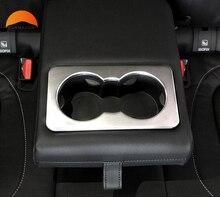 Для Jaguar F-Темп 2016 2017 2018 ABS Матовый заднего сиденья держатель стакана воды отделкой подлокотник стикер автомобиля стайлинг авто аксессуары