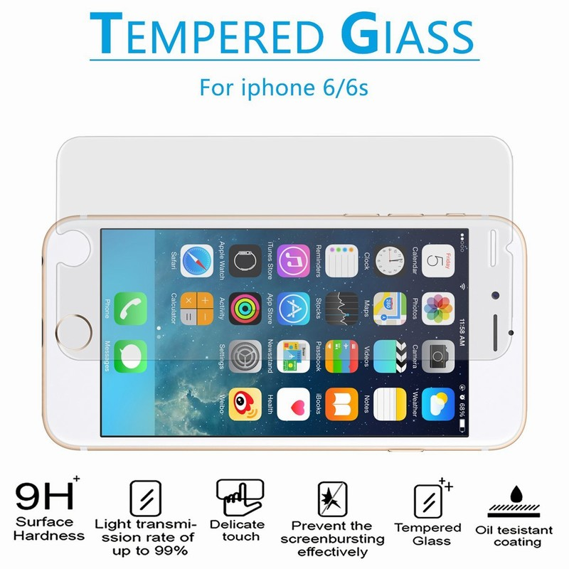 NYFundas Tempered Glass Screen Protector For Apple iPhone 7 Plus 6S 6 5 5S SE 4 4S Film Protection verre trempe ScreenProtector (3)