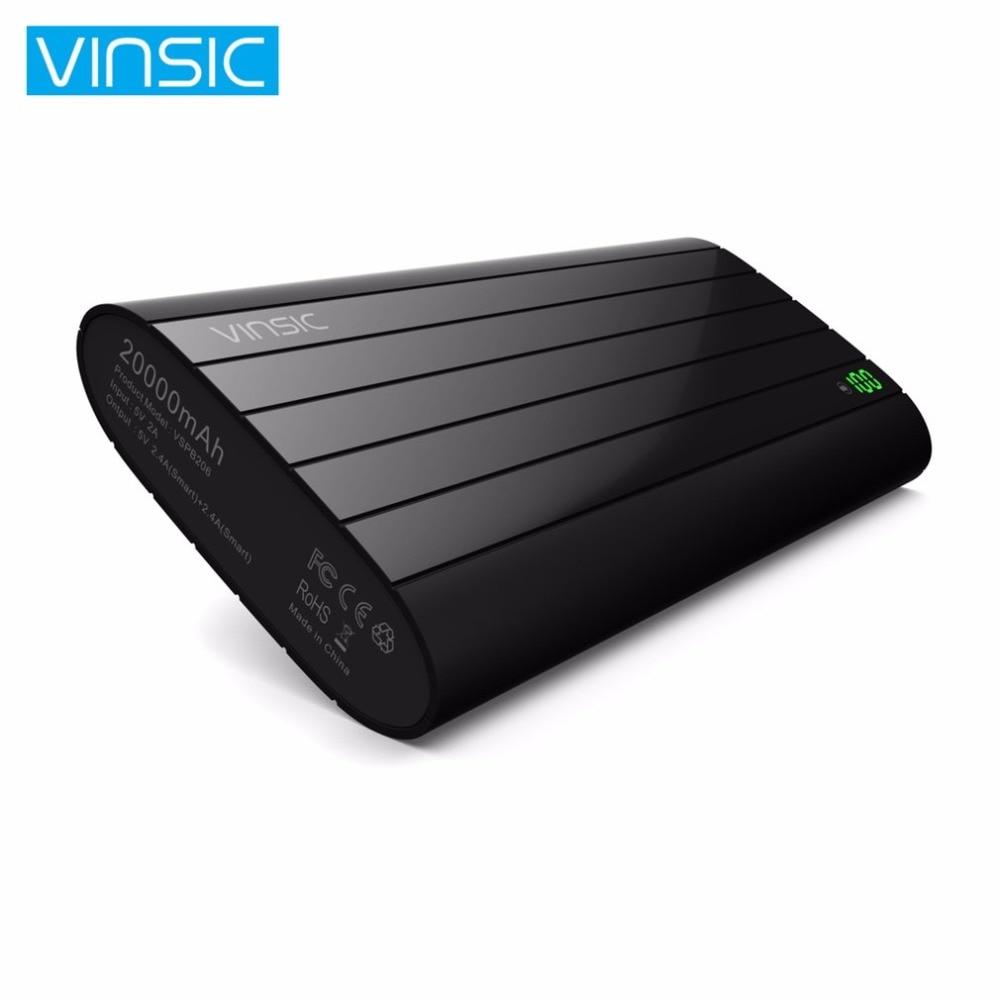 Vinsic 20000 мАч интеллектуальные Запасные Аккумуляторы для телефонов для Samsung Galaxy S8 S8 плюс 2 Порты Dual USB Extenal Батарея пакет Портативный Мощность б...