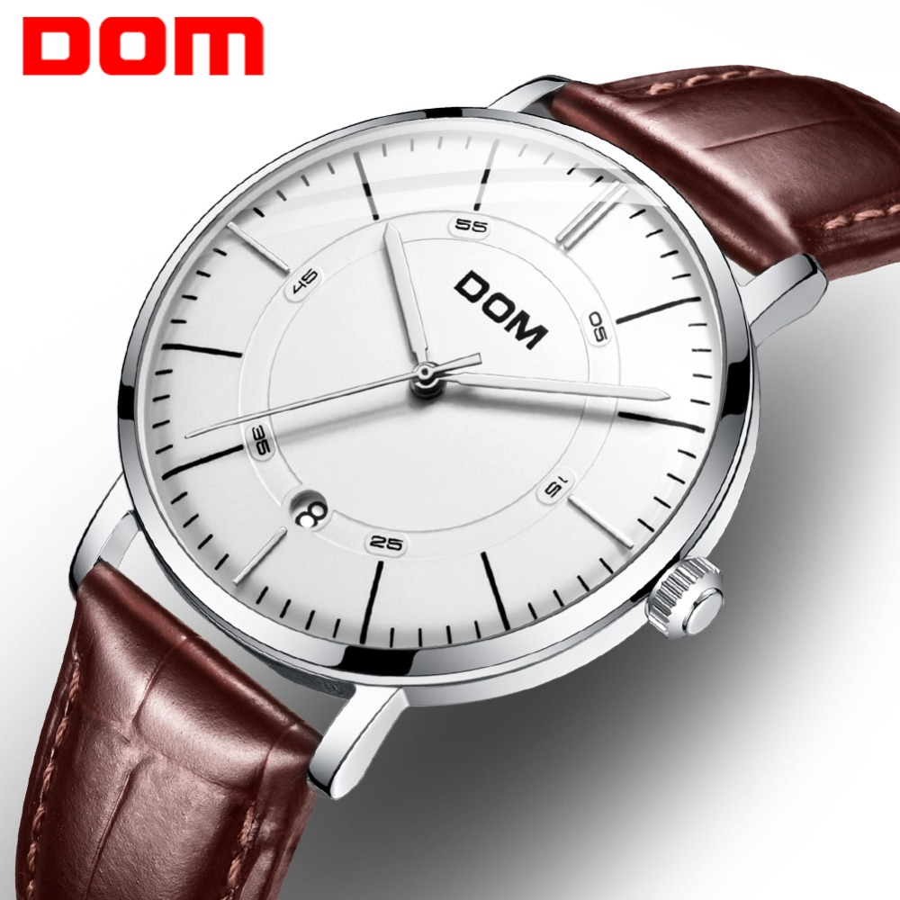 DOM 2018 Mechanical Watch Men Automatic Classic Fashion Leather Mechanical Wrist Watches Top Brand Luxury Waterproof Watch M8106