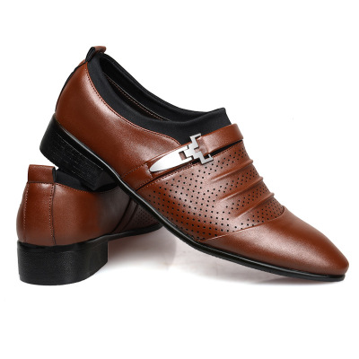 Formal Shoes Learned E Toy Word 2019 Spring Autumn Men Formal Shoes Leather Quality Zapatos Hombre Size Black Dress Shoes Men Classic Business Shoes