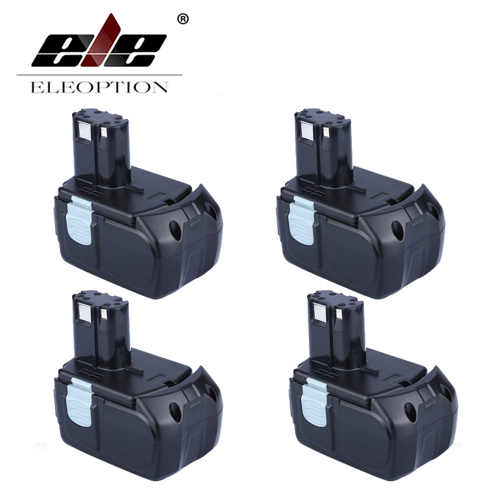 ELEOPTION 4PCS High Capacity 18V 5000mAh Li-ion Rechargeable Power Tool Battery for HITACHI BCL1815 BCL1830 EBM1830 327730 купить в Москве 2019