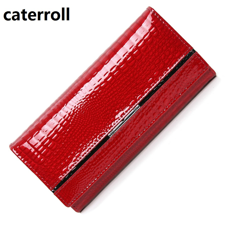 Genuine Leather Women Wallets Alligator Ladies Leather Wallet Luxury Brand Women Purse Long Female Clutch Purses
