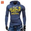 Hoodies Homens Primavera 2016 Mens Hoodies Camisolas Letras Impressas Algodão Fino Moda Masculina Com Capuz Casacos Men Sportswear Casaco XXL
