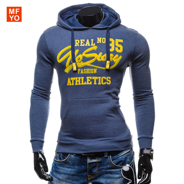 Hoodies Men 2016 Spring Mens Hoodies Sweatshirts Letters Printed Cotton Slim Fashion Male Hooded Jackets Men Coat Sportswear XXL