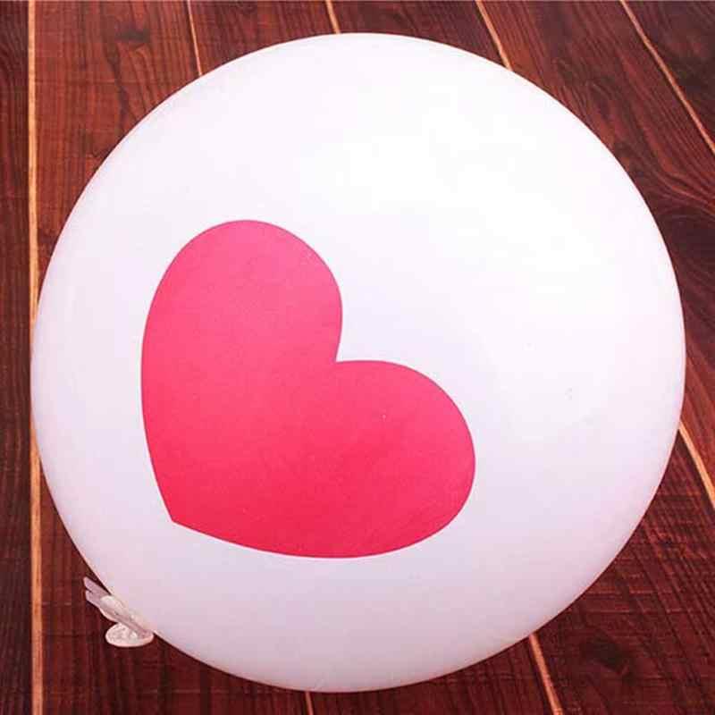 20 piezas globos de látex redondos de 12 pulgadas Día de San Valentín 2,8g globos de fiesta de boda para la decoración de la boda (tipo aleatorio de 4 diseños)