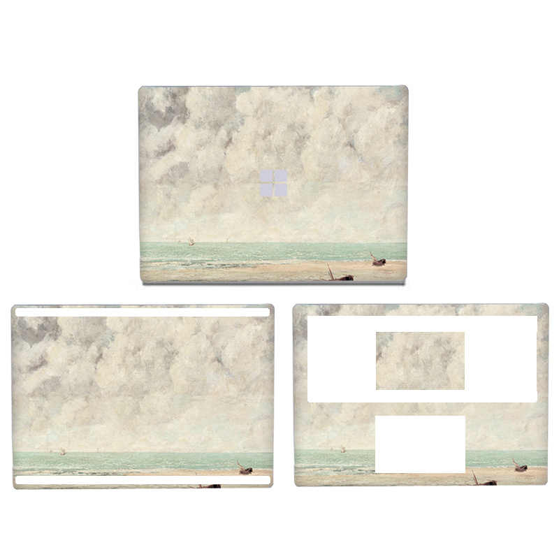 Autocollant pour ordinateur portable en PVC à motif colorisé pour Microsoft Surface book 2 13.5 15 pouces autocollants de haute qualité pour la peau
