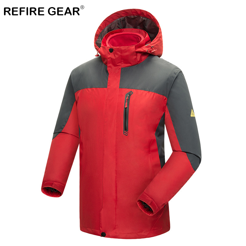 Refire Gear Winter Windproof Outdoor Hiking Jacket Men Hoodies Waterproof Windbreaker Sport Jacket Thermal Fleece Camping JacketRefire Gear Winter Windproof Outdoor Hiking Jacket Men Hoodies Waterproof Windbreaker Sport Jacket Thermal Fleece Camping Jacket