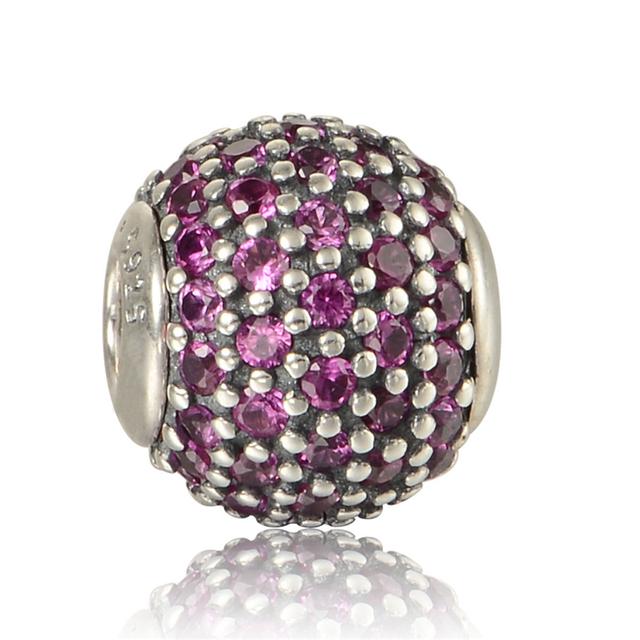 Paixão Essência Essência De Cristal Beads Fit Pan Encantos Pulseira Só Originais 925 Prata DIY Pequeno Buraco Encantos para Fazer Jóias