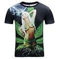 Nueva Manera de Los Hombres/de las mujeres 3d t-shirt de impresión digital de las malas hierbas hojas verdes frescas de verano tops tees seaside camiseta más tamaño