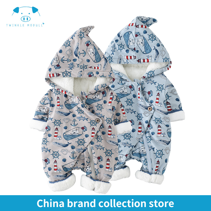 winter rompers newborn boy girl clothes set baby fashion infant baby brand products clothing bebe newborn romper MD170D014 infant baby girl rompers jumpsuit long sleeve for newborns baby boy brand clothing bebe boy clothes body romper baby overalls