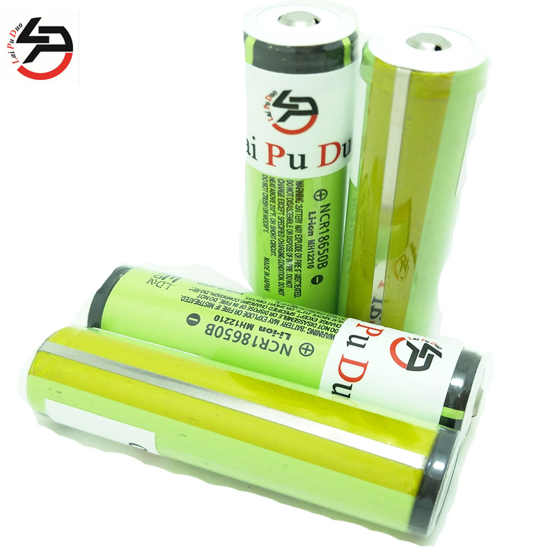 Laipuduo 4pcs newest 100% Original For <font><b>Panasonic</b></font> <font><b>18650</b></font> <font><b>NCR18650B</b></font> 3400mAh Li-ion 3.6v Battery <font><b>18650</b></font> rechargeable Battery image