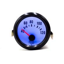 """CNSPEED """" 52 мм 12 В Автомобильный датчик температуры воды 40~ 120 градусов Цельсия с датчиком автомобильный измеритель температуры воды синий светодиодный светильник YC100012"""