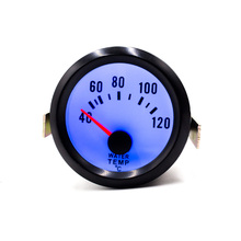 2inch 52mm Water Temperature Gauge Black 40~120 With Sensor Blue LED For/Car Meter/Auto Gauge For 12V DC White Water Temp Gauge