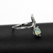 Resizable Natural Fire Opal Ring, 925 Sterling Silver – Certified