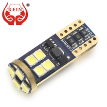 KEIN 2PCS 12SMD T10 Bulb w5w 194 car led Canbus Error Free 3030 License Plate Side Wedge Reading Tail Light Signal Lamp for Audi