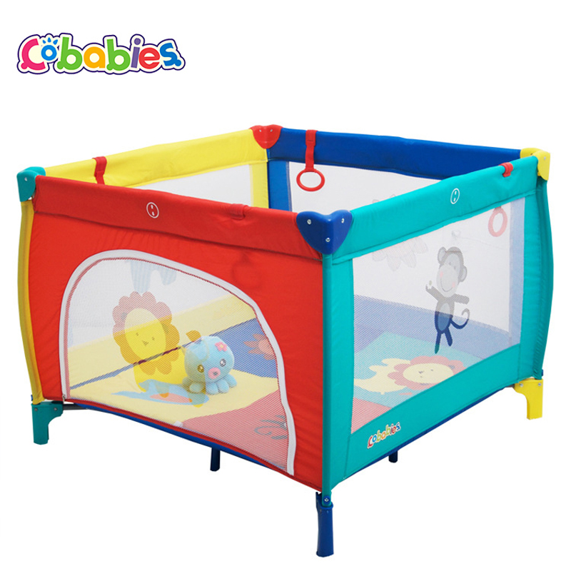 New Game bed Portable Baby Crib Multi-functional Folding with Diapers Changing Table Travel Child Game Beds  цена и фото