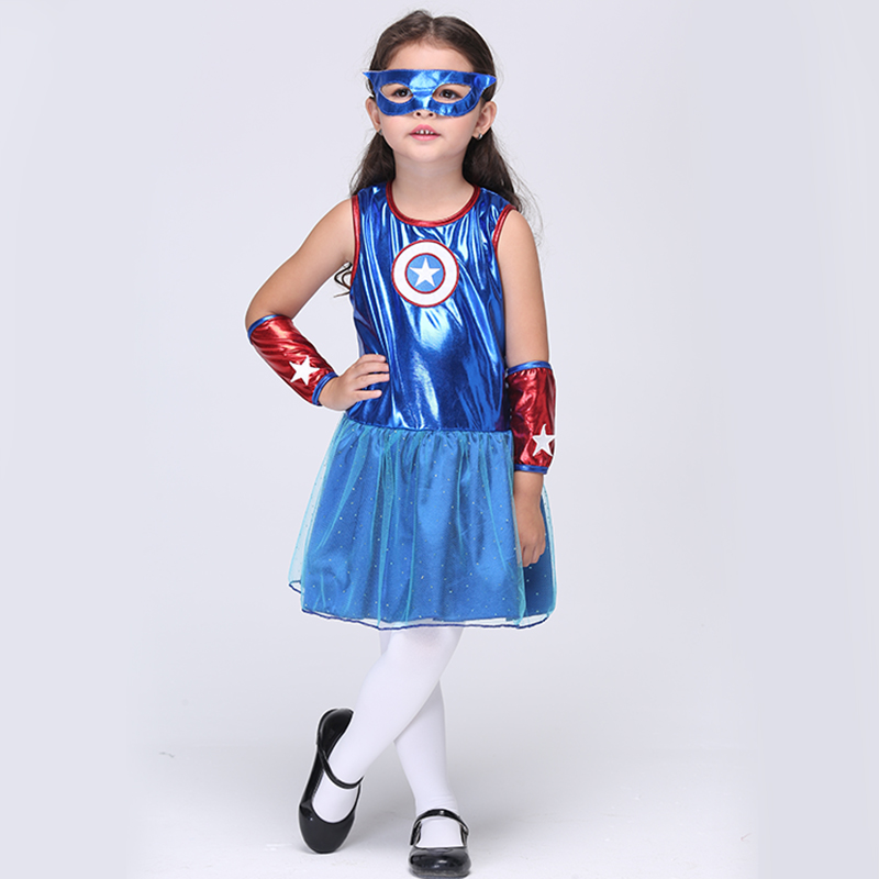 2017 Supergirl Halloween Cosplay Costume For Kids Girls ...