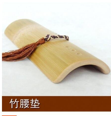 Cushion Pillow Hard-Wood Bamboo Bedding Lumbar Sleep-Bed Curvature