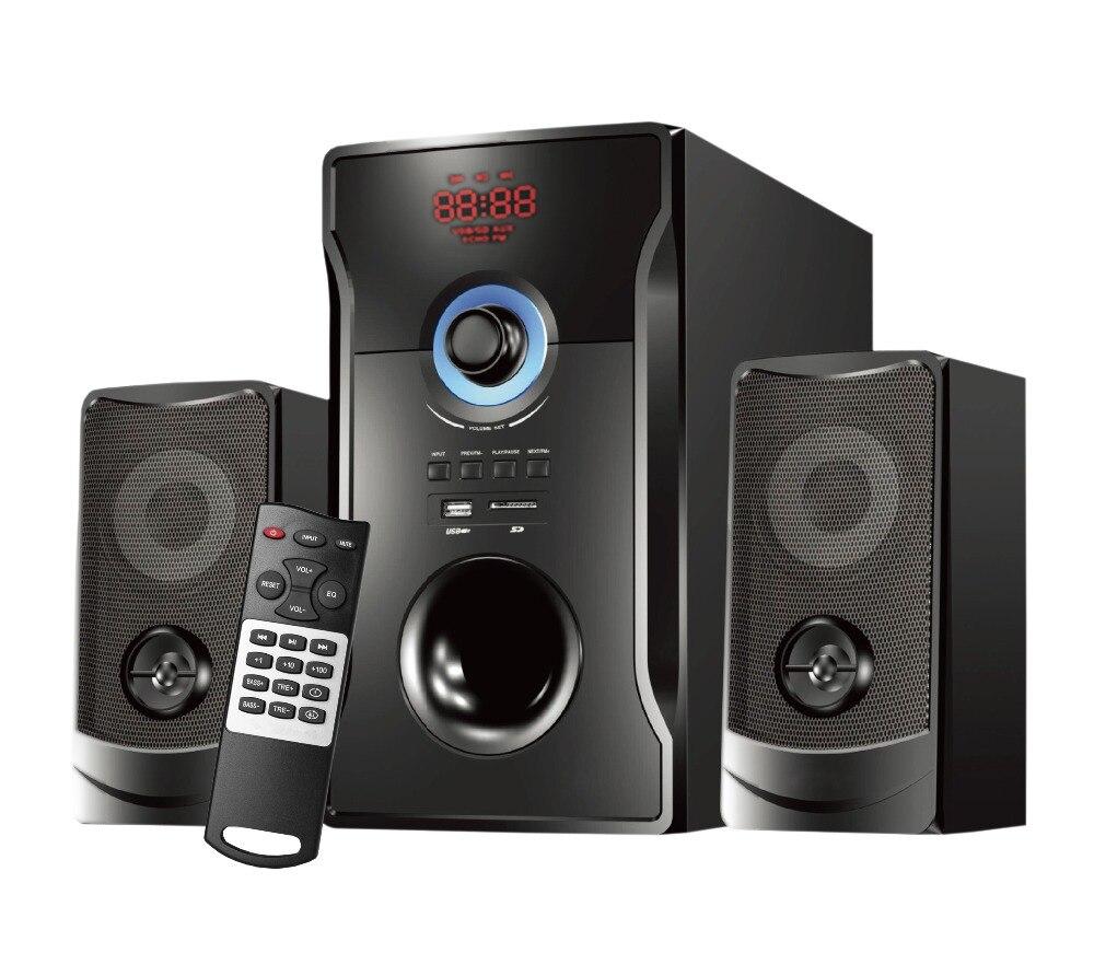 2.1 haut-parleur bluetooth sans fil Subwoofer musique films multimédia PC systèmes de jeu AUX USB 2.1 boîte de son haut-parleurs de basse