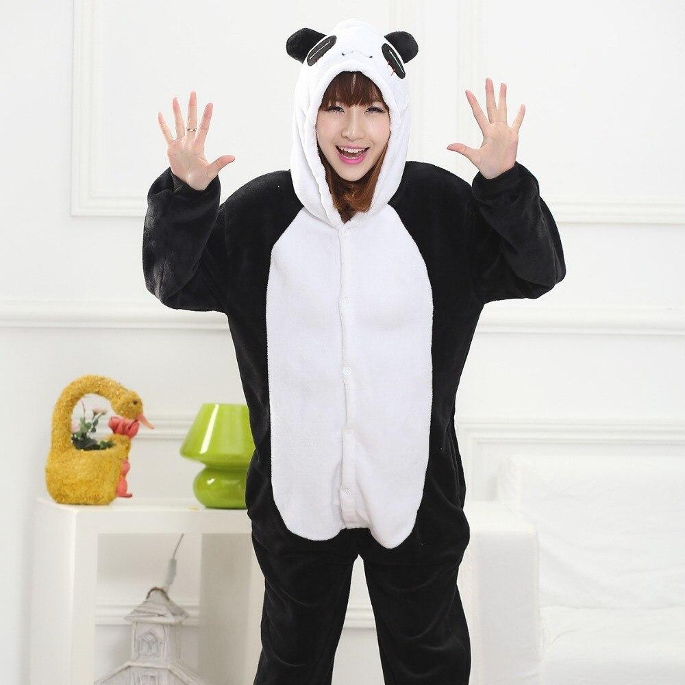Kungfu Panda Kigurumi Onesie for Adult Animal Man Women Pijamas Flannel Warm Soft Sleepwear Onepiece Winter Jumpsuit Pajama