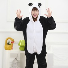 Panda Kigurumi Onesie for Adult Animal Man Women Pijamas Flannel Warm Soft Sleepwear Onepiece Winter Jumpsuit Pajama Cosplay(China)