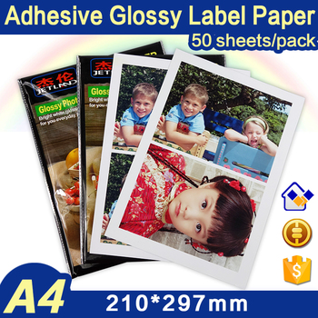 Whole A4 Sheets Photo Paper Sticker Self-adhesive for Color Inkjet Printer, size, 50 sheets /pack,  Glossy Surface - sale item Paper & Printable Media