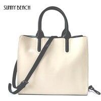 sunny beach alta calidad de lujo bolso de cuero genuino bolso del diseador del bolso del