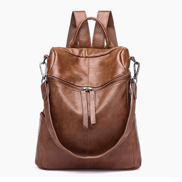 2018 Women Backpack PU Leather Daypack Fashion Backpacks Female Mochila Feminine Casual Large Capacity Vintage Shoulder Bags