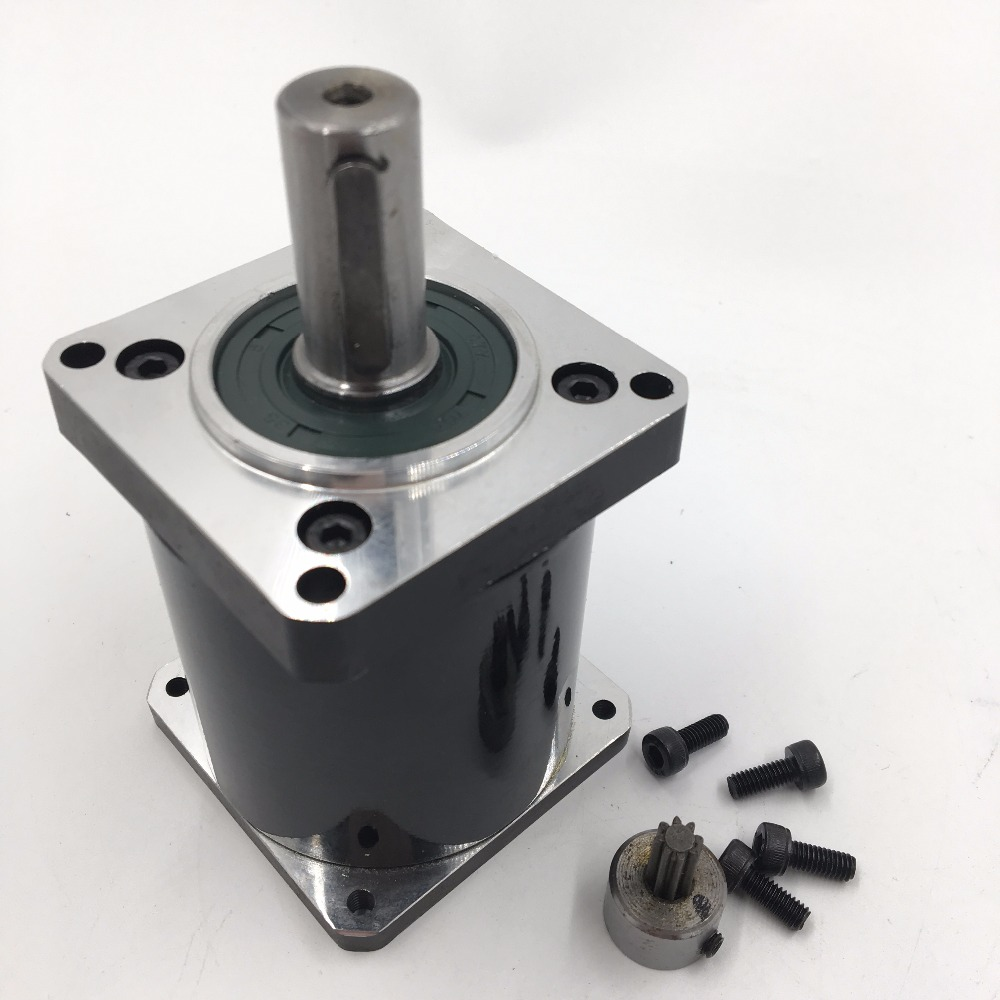 Flange 57mm Planetary Gear Ratio 20:1 Geared Nema23 Gearbox Shaft 14mm L70mm Speed Reducer for Flange 57mm Stepper MotorFlange 57mm Planetary Gear Ratio 20:1 Geared Nema23 Gearbox Shaft 14mm L70mm Speed Reducer for Flange 57mm Stepper Motor