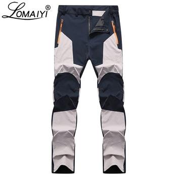 LOMAIYI Stretch Man Pants Casual Mens Spring/Autumn Waterproof Sweatpants Men's Trousers Male Slim Fit Work Pants For Men AM042
