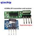 1 set superUnidades heterodyne 433 Mhz RF transmisor y módulo receptor kit de tamaño pequeño para Arduino uno Diy kits 433 Mhz controles remotos