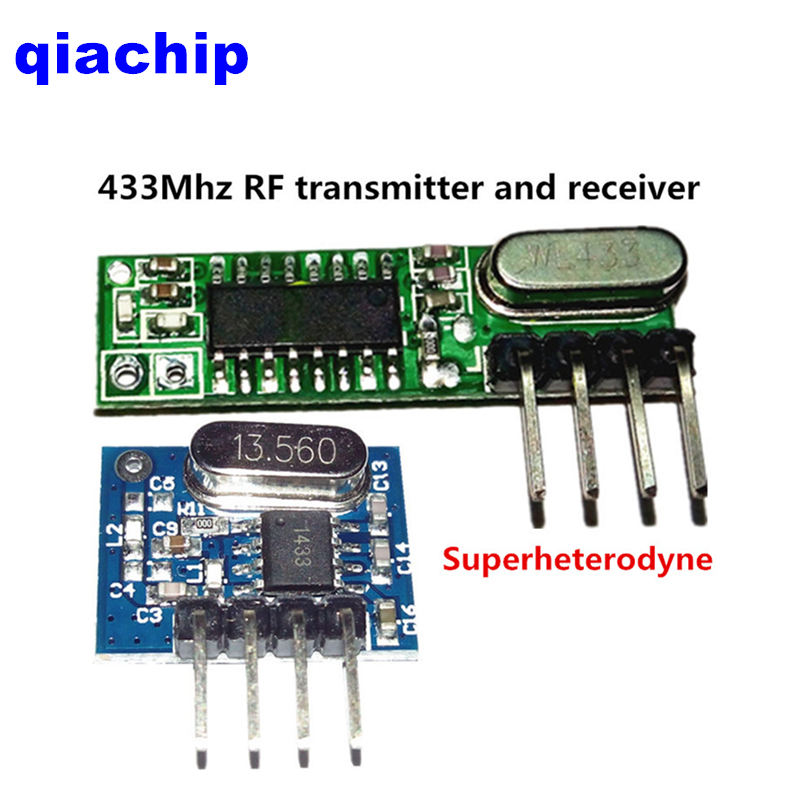 1Set superheterodyne 433Mhz RF transmitter and receiver Module kit small size For...