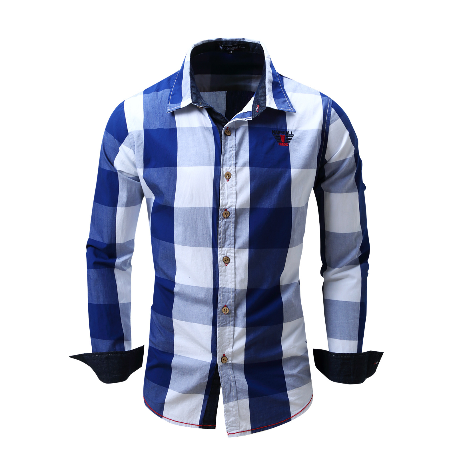 2017 New Arrival Mens shirt Long Sleeve Shirt Mens Dress Shirts Brand Casual Fashion Bus ...