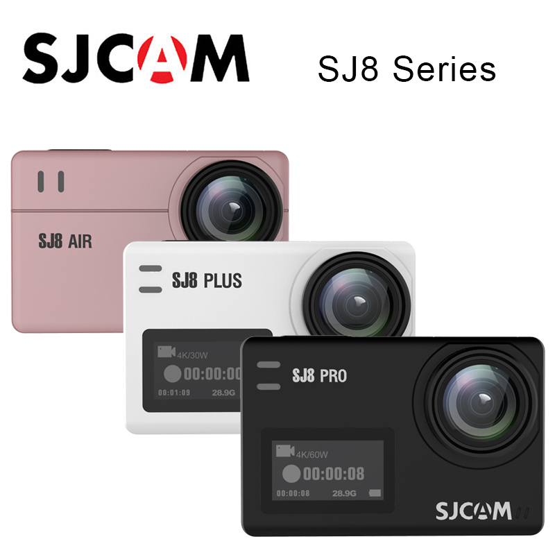 100% Original SJCAM SJ8 Series SJ8 Air & SJ8 Plus & SJ8 Pro 1290P 4K Action Camera WIFI Remote Control Waterproof Sports DV