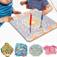 3D Cartoon Star Sky Maze Magnetic Baby Toys for Kids Early Educational Puzzle Wooden Toys Montessori Children's Toy T0156