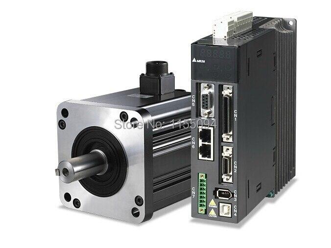 ECMA-C10602SS ASD-A2-0221-L Delta AC Servo Motor & Drive kits 220V 200W 0.64NM 3000r/min with 3M cable