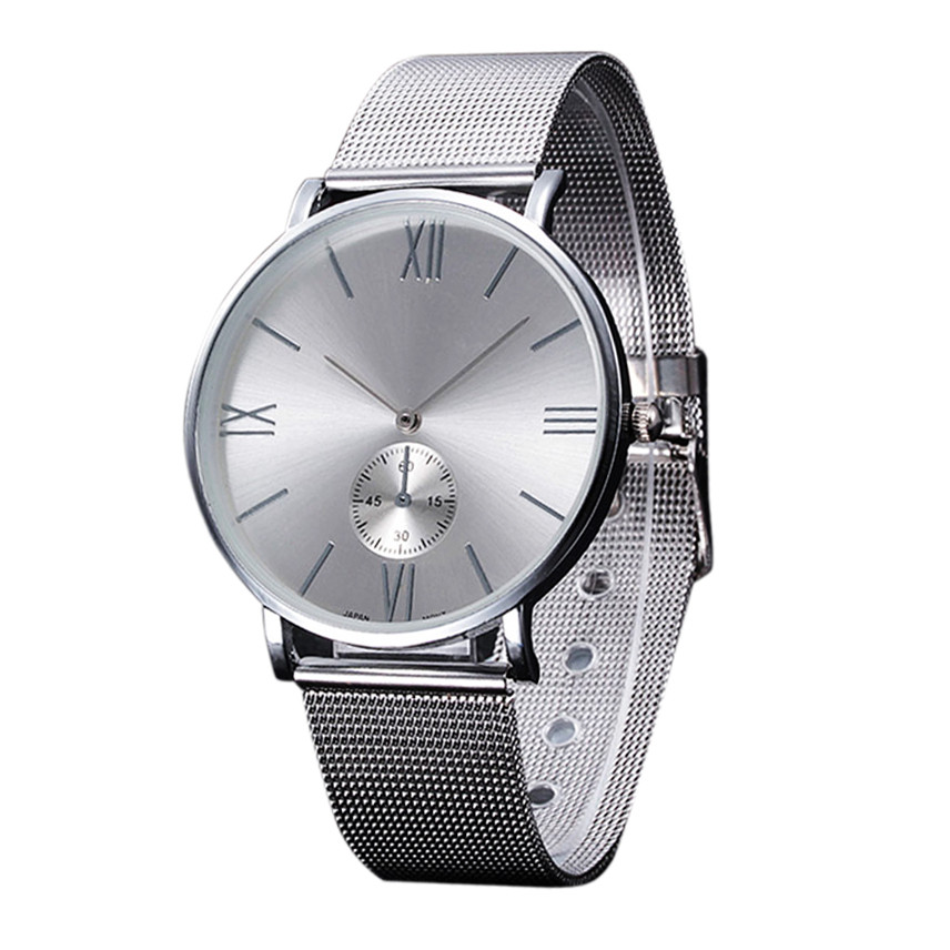 Casual Silver Womens Watch Fashion Crystal Stainless Steel Buckle Roman Numbers Analog Quartz Lady Wrist Watch relogio femininoCasual Silver Womens Watch Fashion Crystal Stainless Steel Buckle Roman Numbers Analog Quartz Lady Wrist Watch relogio feminino