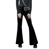 High Waist Women 2016 New Fashion Punk Pants Wide Leg Ladies Do Old Casual Loose Slim