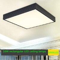 Design criativo de poupança de energia LED teto luzes de teto sala retangular 43 * 43 cm AC110-240V