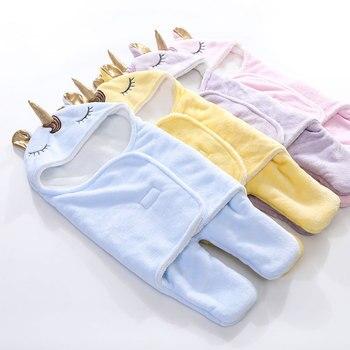 Warm Fleece Unicorn Design Baby Blanket Sleeper 2