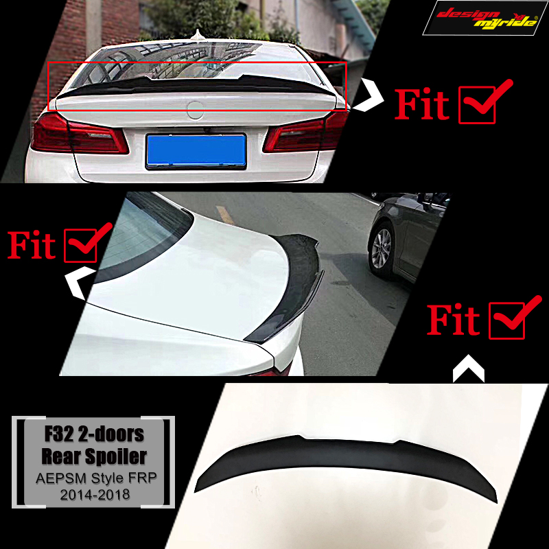 F32 wing rear Spoiler FRP Unpainted PSM style Fits For BMW 4 Series F32 2 doors 420i 430i 435i rear trunk Spoiler wing 2014 18 in Spoilers Wings from Automobiles Motorcycles