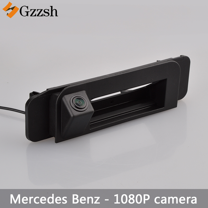 1080P Car HD Luggage Handle Camera For Mercedes Benz C-class W205 CLA W117 Rear View Backup Parking Camera Night Vision Camera